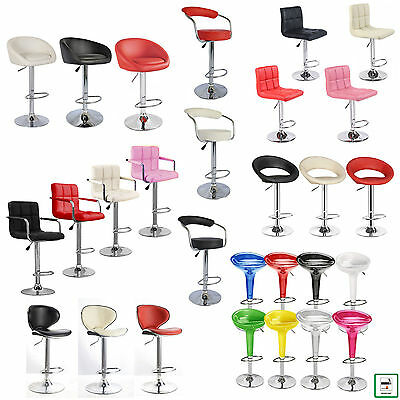 1 x FAUX LEATHER KITCHEN BREAKFAST BAR STOOL BARSTOOLS PU SWIVEL GAS LIFT CHAIRS