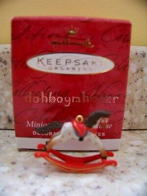 Hallmark 2001 Miniature Rocking Horse Christmas Ornament