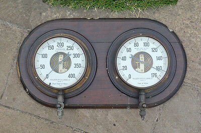 Vintage pressure/water level old industrial brass gauge dial gauges-FREE POSTAGE