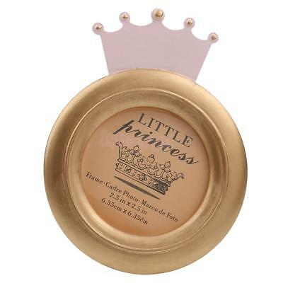 Decorative Crown Shape Baby Round Photo Frame Home Decor Baby Shower Gift