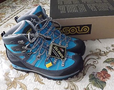 NEW Asolo Karaj GV Hiking/Backpacking Boots Size 9 Blue Peacock