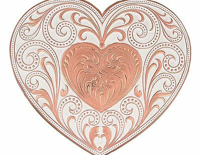 MONTANA SILVERSMITHS - Copper Filigree Heart Buckle - 27400C - New