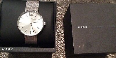 New With Tag $200 Marc By Marc Jacobs Silver Women Watch