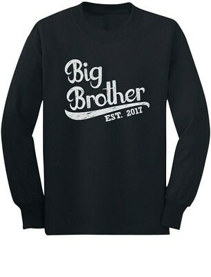 Gift for Big Brother 2017 Toddler/Kids Long sleeve T-Shirt Sibling TShirt Boys