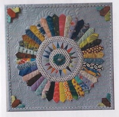 Scrappy Dresden - foundation paper pieced mini quilt PATTERN -