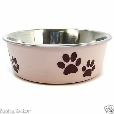 Stainless SteelPet Bowl Pink Blue Dog Puppy Dog Cat Kitten Water Food Bowl