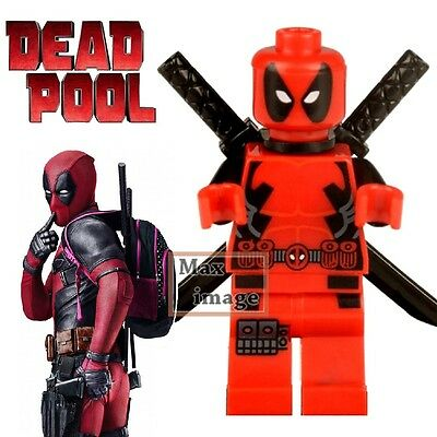 1pc Deadpool Minifigures Building Blocks Toy Marvel Super Hero Custom Lego #013