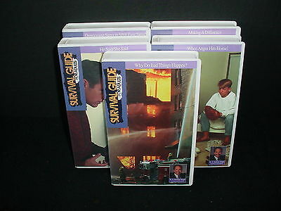 Set of 5 Survival Guide For Adults Dr. H Norman Wright Video Tape VHS Priority 1
