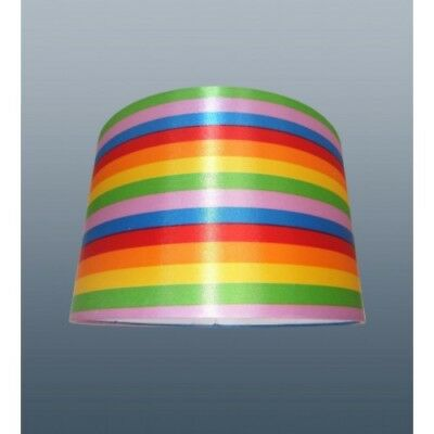 Rainbow Cylinder Lamp Shade Table or Ceiling Light Lampshade 11in 28cm