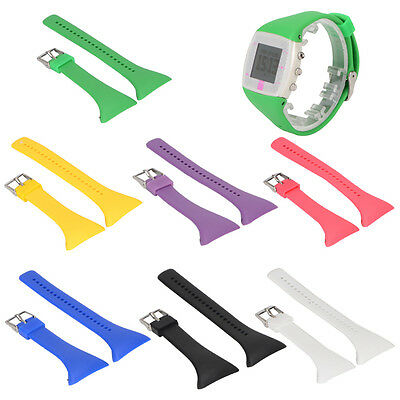 Luxury Replacement Silicone Wrist Watch Band Bracelet Strap for Polar FT4 FT7