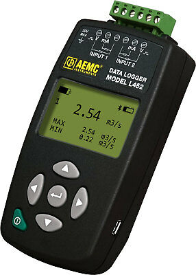 AEMC L452 2-Channel Data Logger (100mV / 1v / 10VDC) with LCD, Event and Pulse