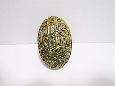 Brass Door Knob Public School City of NewYork 1900s Antique