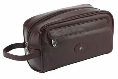 100% Brown Leather Exclusive Men's Toiletry Bag