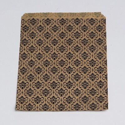 8 x 11 Large Paper Damask Flat  Retail Merchandise Shopping Gift Bags 100 pcs