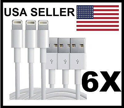 3X OEM Original Apple iPhone 6 6S 5C 5S 5 Lightning USB Data Cable Charger USB