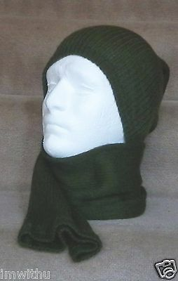 New Danish Military Surplus Tube Scarf Wool Blend Neck Gaiter Tactical Balaclava