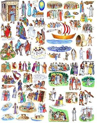 13 Stories of Jesus Bible Felt Figures PRECUT Flannel Board parables miracles +