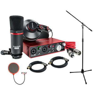 Focusrite Scarlett 2i2 Studio Pack & Recording Bundle - 2nd Gen w/ Pro Tools