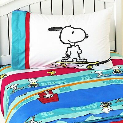 Charlie Brown Peanuts Bed Sheet Set Snoopy Just Be Cool Bedding Accessories