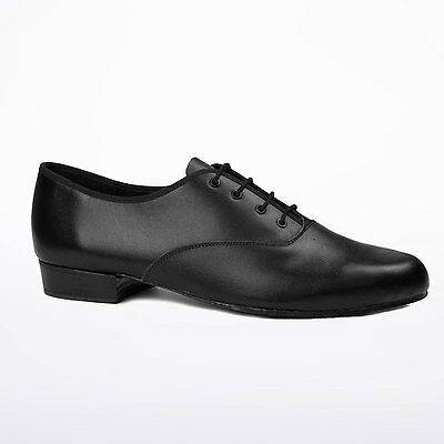 Mens / Boys Black Freed Leather Oxford Ballroom/latin dance shoes -all sizes MLC