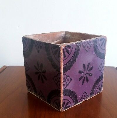 Faience or Delft Tile Purple and Black Planter Vase, French 18/19th Century