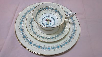 4 pc Lot Queen Elizabeth Coalport Bone China cup saucer plates made in england