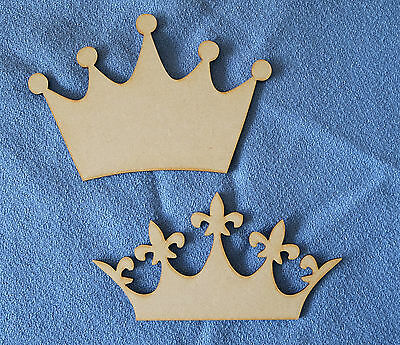 large mdf crown and tiaras in 3mm thick mdf craft shape blanks