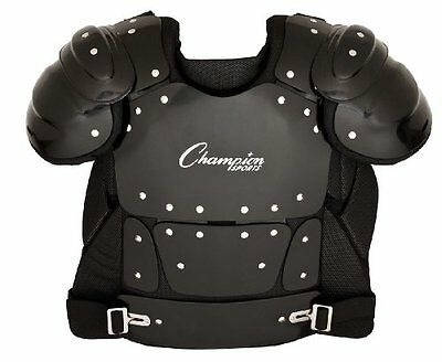 Champion Sports Umpire Chest Protector Black 17-Inch