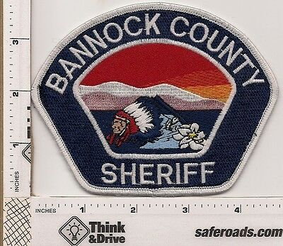 Bannock County Sheriff. Idaho.Indian Head with sunrise.