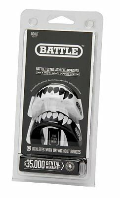Battle Fang Mouth Guard 2-Pack Black/White Adult
