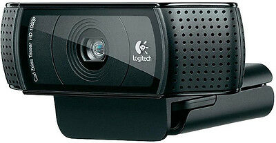 Logitech HD Pro Webcam C920 1080p video Autofocus Carl Zeiss 15MP Connect