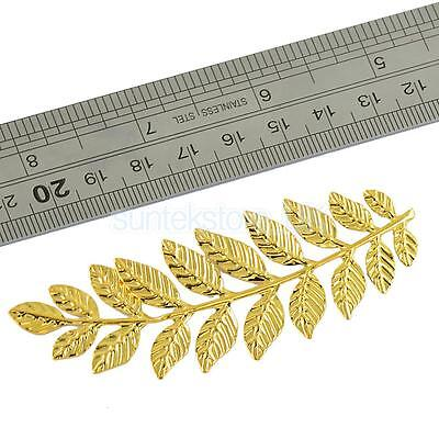 6 Pcs Large Filigree Leaf Branches Jewelry Making Home Art Deco Finding Gold