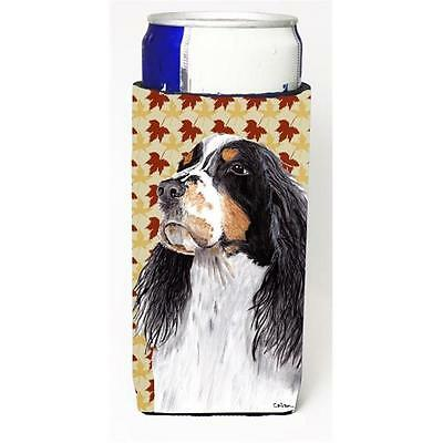 Springer Spaniel Fall Leaves Portrait Michelob Ultra s For Slim Cans 12 oz.