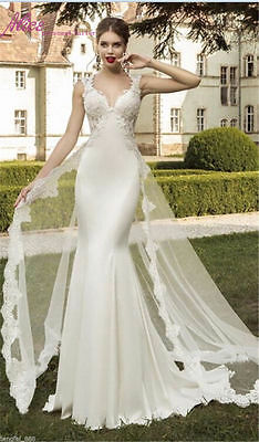 New White/Ivory Bridal Gown Wedding Dress Custom Size 6 8 10 12 14 16+++++