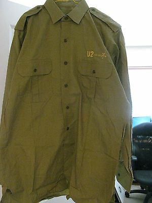 U2 The Best Of 1980 - 1990, Official UK Island Promo Khaki Army Shirt, Mint