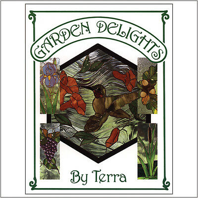 Stained Glass Suppies - Garden Delights pattern book by Terra