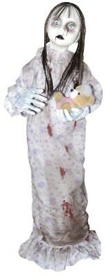 Hanging Ghost Doll w/ Floral Nightgown Halloween Prop Decoration NEW