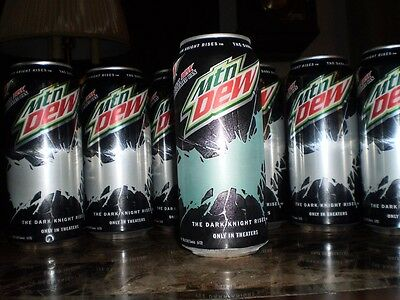 SIX UNOPENED Batman THE DARK KNIGHT RISES 16 OZ Mountain Dew cans!