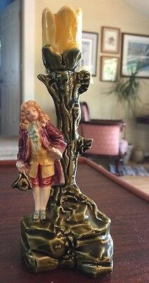 Antique Small German Porcelain Classical Figural Candle Holder