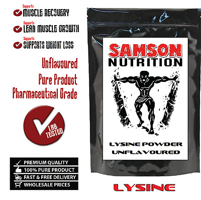 LYSINE 100g UNFLAVOURED PHARMACEUTICAL GRADE PREMIUM QUALITY -WITH TRACKING