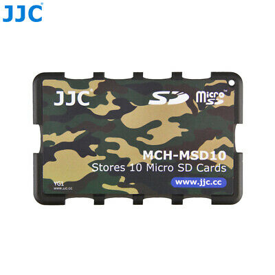 JJC MCH-MSD10YG Camouflage Credit Card Memory Card Holder for 10 Micro SD card