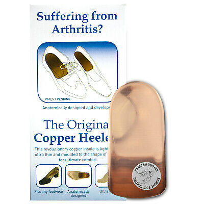 The Original Copper Heeler Size 5-7 With Free Leather Insoles Arthritis Relief
