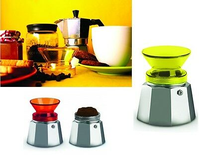 Imbuto Per Caffettiera Moka Caffe' Kafferino Small Giallo 2 Tazze Pusher