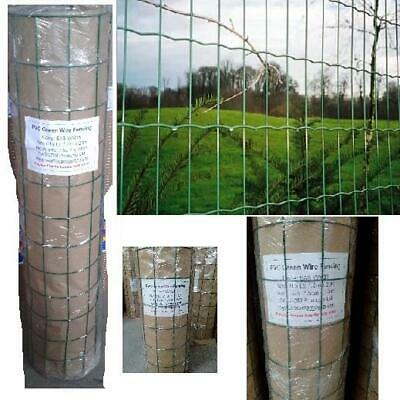Pvc Green Coated Garden Mesh Wire Fence Fencing 0 9 1 2 8m 10m 20m Metal Post