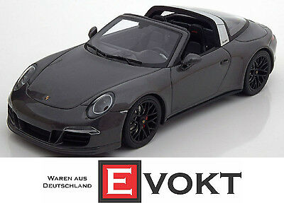 GT Spirit Porsche 911 (991) Targa GTS 2016 Anthracite Model Car 1:18 Genuine New