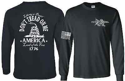 Don't Tread On Me Gadsden Snake Flag Political Long Sleeve T-SHIRT Dont DTOM Tee