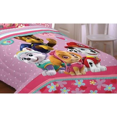 nEw PAW PATROL TWIN-FULL COMFORTER - Best Pup Pals Skye Everest Chase Bedding