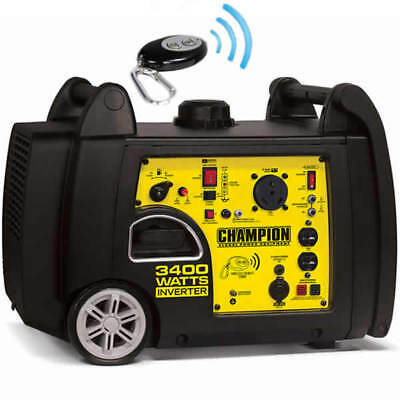 Champion 100261 - 3100 Watt Electric Start Inverter Generator w/ RV Plug & Wi...