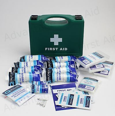 10 Person Workplace First Aid Kit in Sturdy Box. HSE Compliant for Low Risk