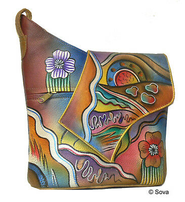 Sova Hand Painted Shoulder Bag 11 Adorable Fine Arts